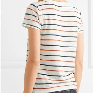 MADEWELL Retro Striped Scoop Neck Linen Blend T